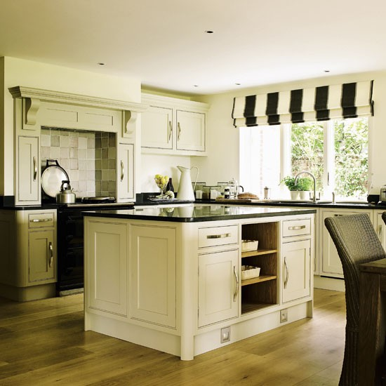 Timeless Kitchen With Old White Farrow And Ball On The