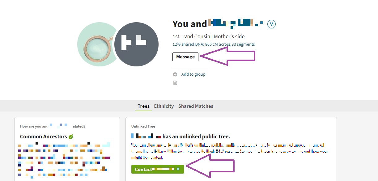 How to contact AncestryDNA matches