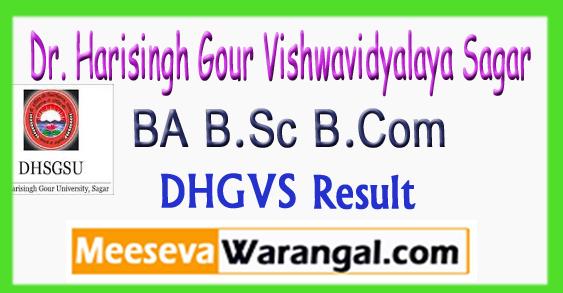 DHSGSU BA B.Sc B.Com 1st 2nd 3rd Year Result 2018