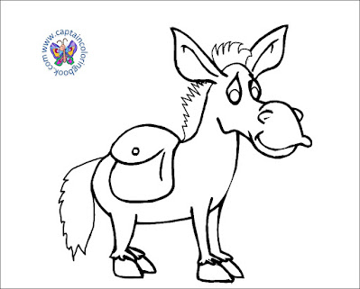 Donkey Coloring Pages PDF Download