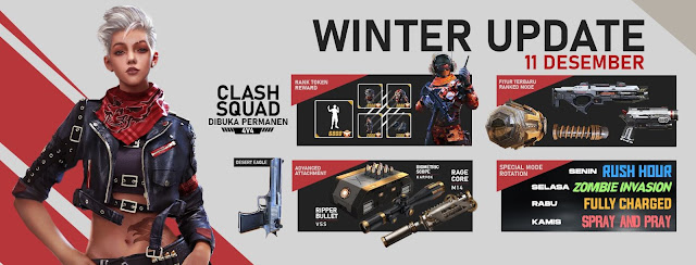 5 Fitur Terbaru Free Fire Patch Winter 11 Desember 2019