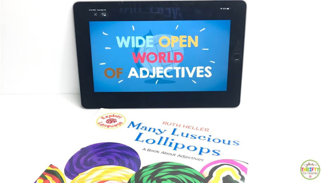 Engaging books, videos and activities to use when teaching ordering adjectives to upper elementary students.