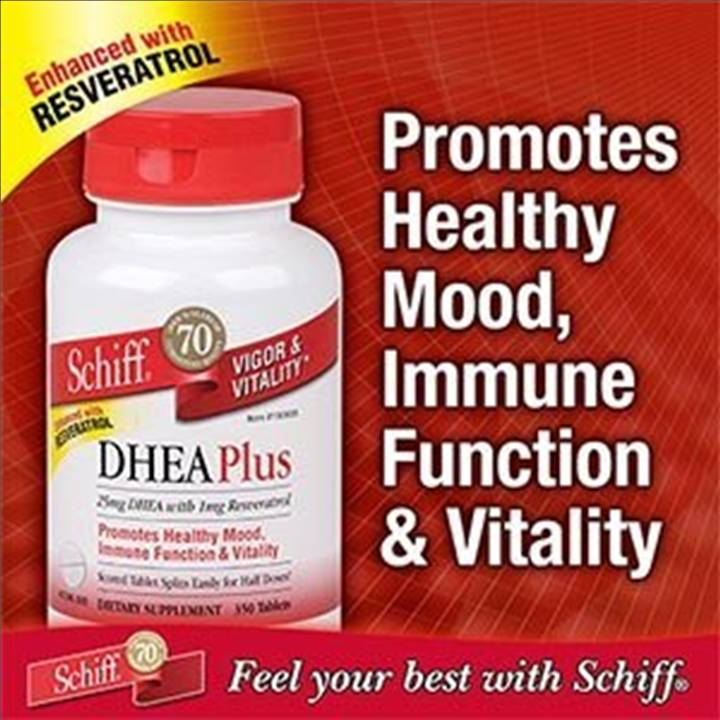 DHEA Plus – Marca SCHIFF – 25mg – 350 tabletes