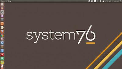 System76 Logo Gray Background