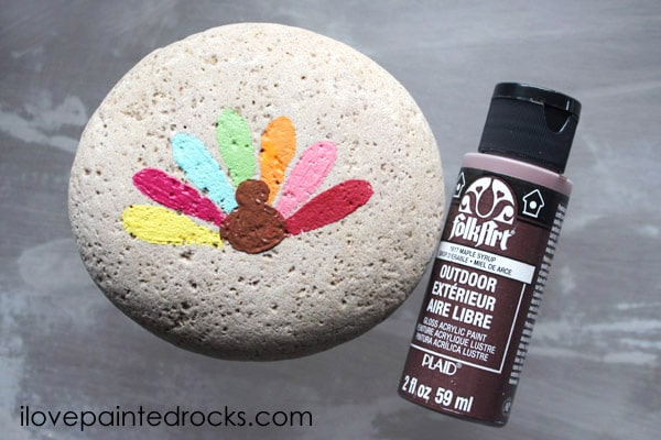 How to paint a Turkey Step 8: Turkey Body