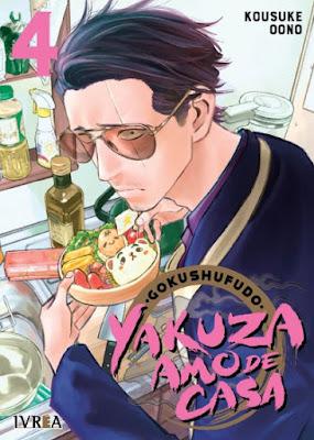 Reseña de Gokushufudo, Yakuza Amo de Casa vols. 4 y 5 de Kousuke Oono - Ivréa.
