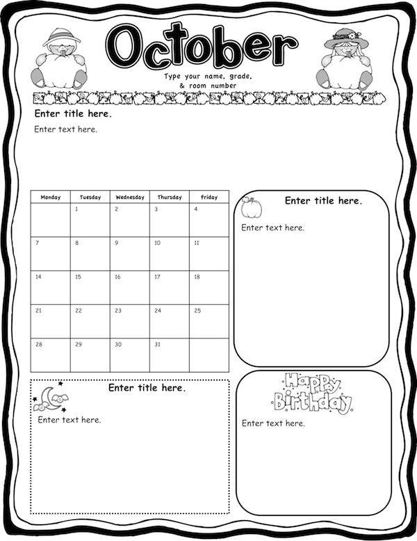 Mrs. Solis's Teaching Treasures: Monthly Newsletters
