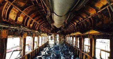 """السيطرة على حريق فى قطار القاهرة طنطا بالمنوفية دون وقوع إصابات """""""