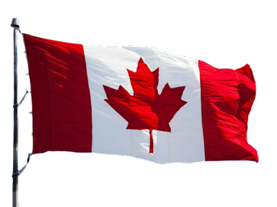A Canada Flag with transparent background.