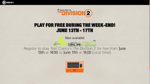 Dapatkan Game Gratis Terbatas Tom Clancy's The Division 2 Berlaku Sampai 17 Juni!