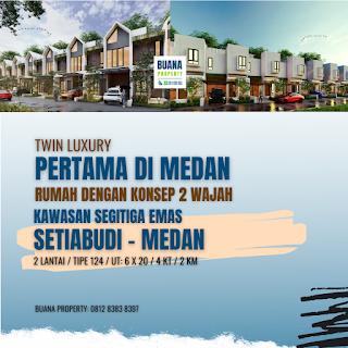 Rumah Cantik Mewah Murah Konsep Dua Wajah di Kawasan Segitiga Emas Setiabudi Ringroad Medan - Twin Luxury