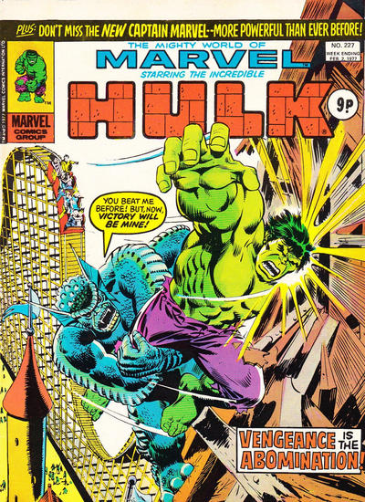 Mighty World of Marvel #227, Hulk vs Abomination
