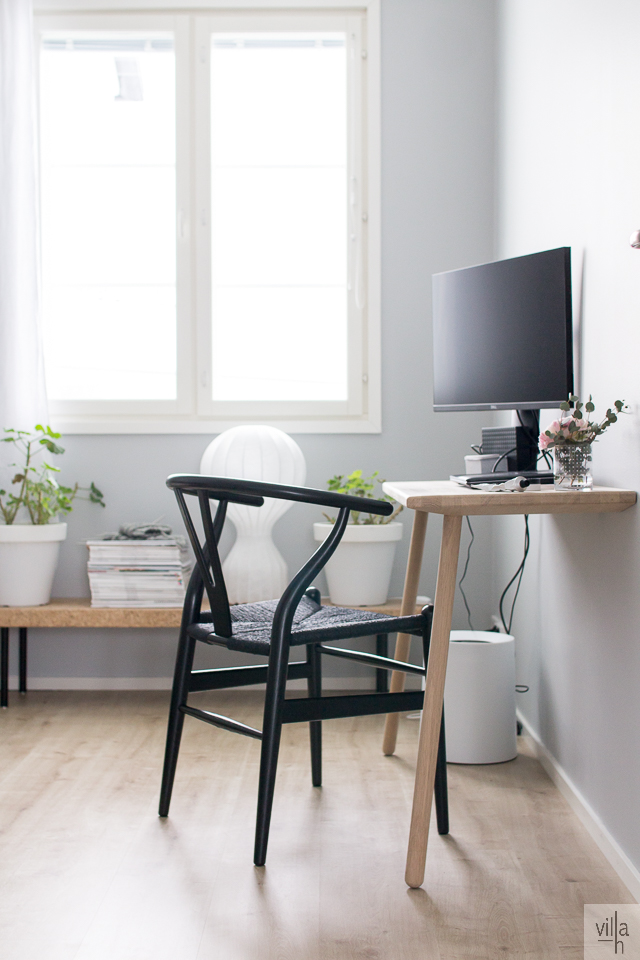 y-tuoli, wishbone, interior, sisustus, skagerak, työhuone