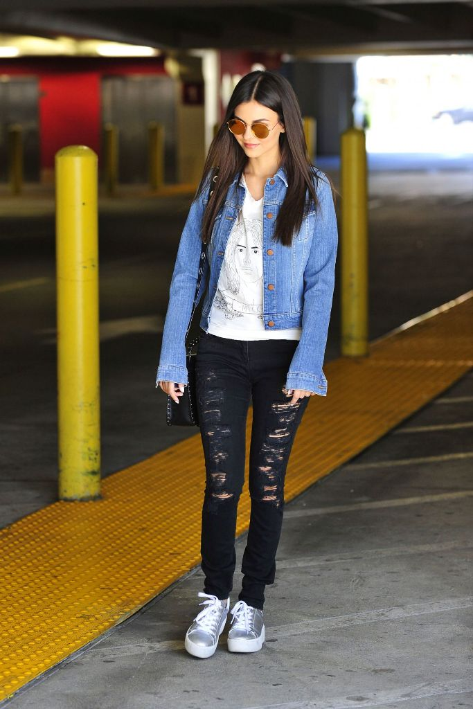 Victoria Justice – Leaving a Parking Garage in Los Angeles