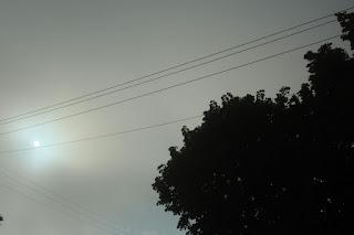 The sun tries to break through