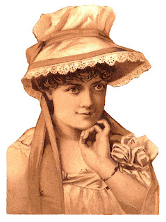 woman hat bonnet illustration antique victorian image