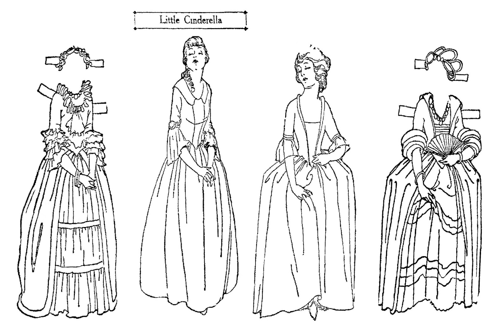 Mostly Paper Dolls Too!: Little CINDERELLA Paper Doll Cut