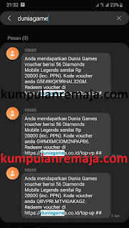 Cara Redeem Voucher Mobile Legends Pada Paket GameMax