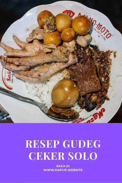 Resep Gudeg Ceker Solo