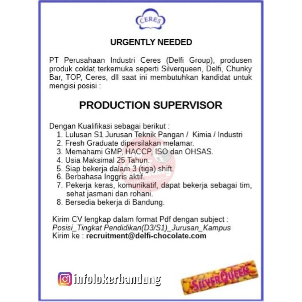 Lowongan Kerja PT. Perusahaan Industri Ceres ( Delfi Group) Bandung Agustus 2019