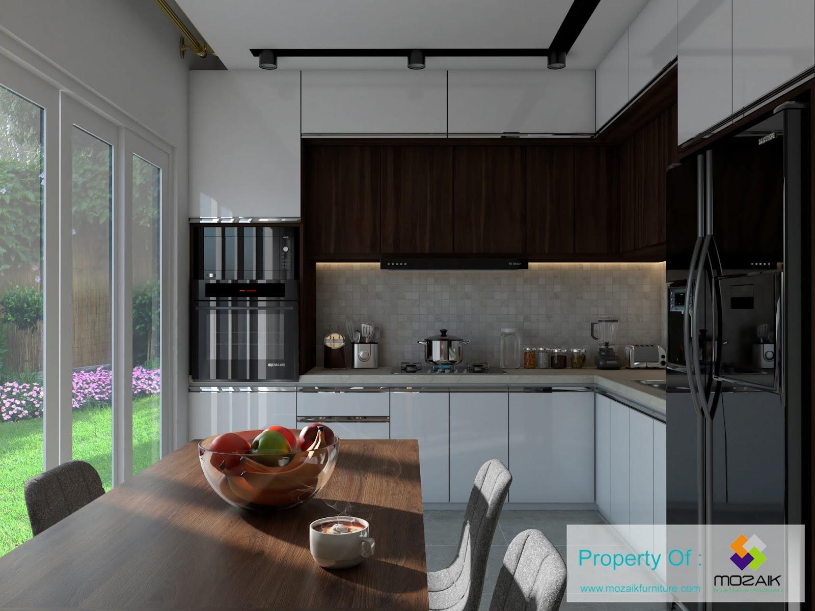 Kitchen set minimalist tambun bekasi dapur kecil minimalist