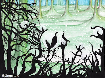 Edge of Clarity Forest acrylic painting