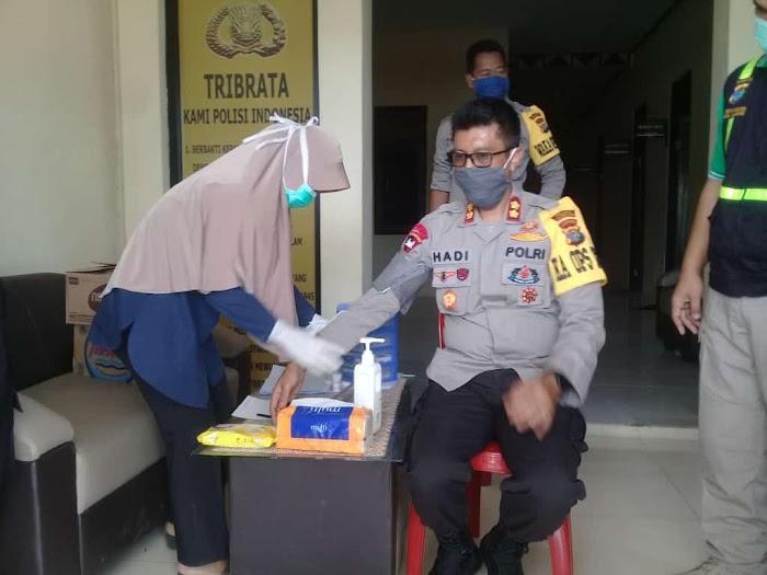 Bantu PMI, Polres Tulang Bawang Barat Gelar Donor Darah.