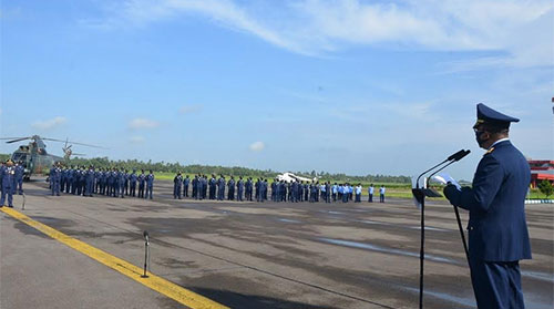 Prajurit Lanud Supadio Ikuti Upacara Peringatan Ke-73 Hari Bakti TNI AU