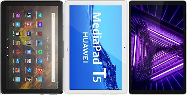 Amazon Fire HD 10 (2021) vs Huawei Mediapad T5 vs Lenovo Smart Tab M10 HD (2ª Gen)