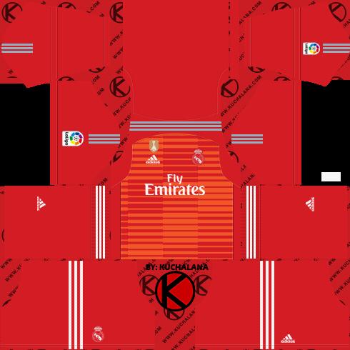 3c1801bab Real Madrid 2018 19 Kit - Dream League Soccer Kits - Kuchalana