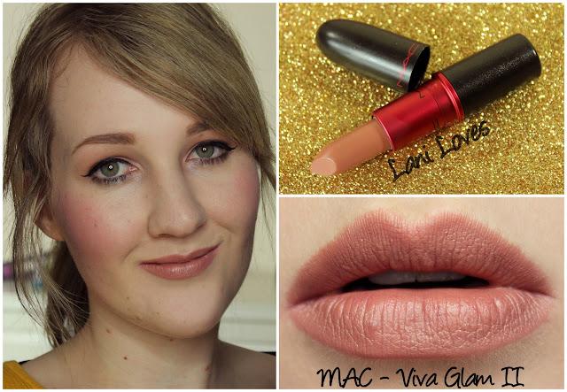 MAC Viva Glam II lipstick swatch