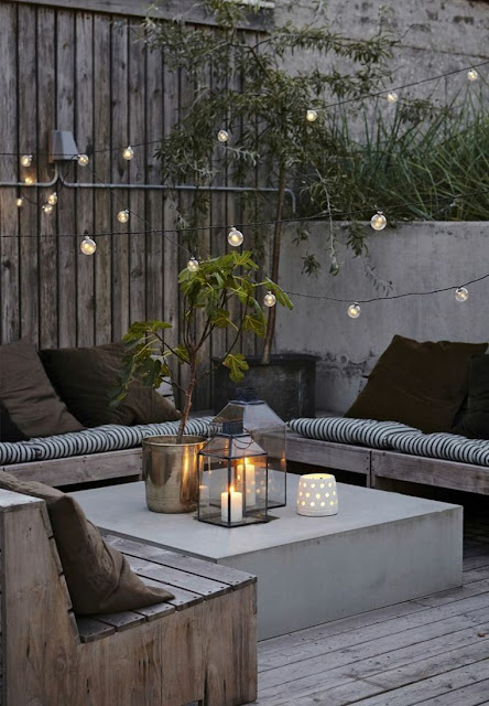 terraza luces chill