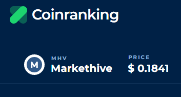 markethive Actual price