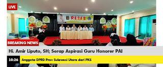 Amir Liputo Serap Aspirasi Guru Honorer PAI
