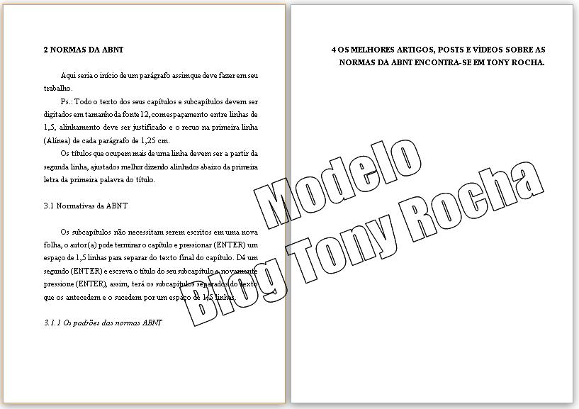 Modelo Formata O Trabalhos Normas Abnt Dissertação