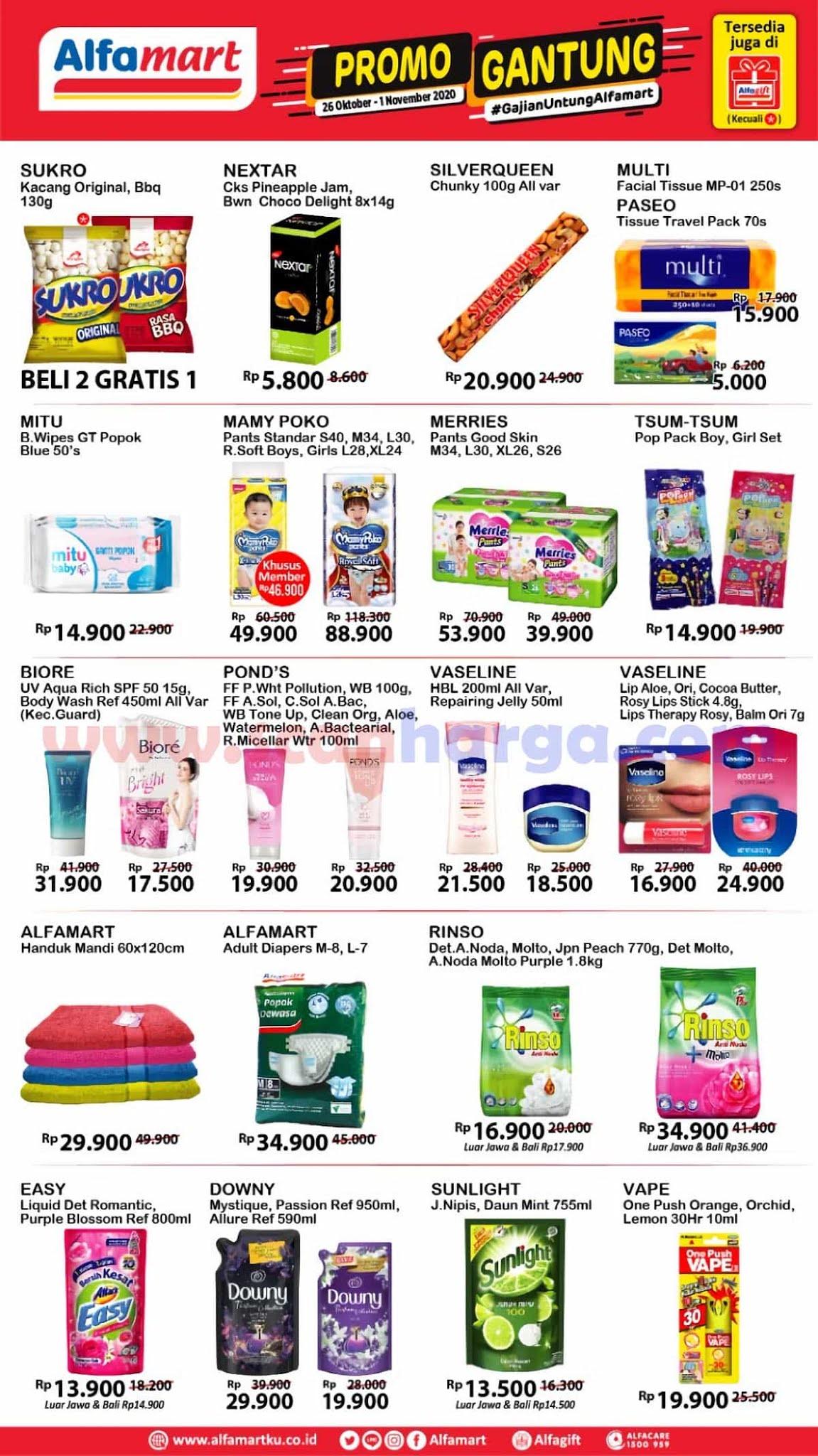 Promo Alfamart Gajian Untung (Gantung) 26 Oktober - 1 November 2020 3
