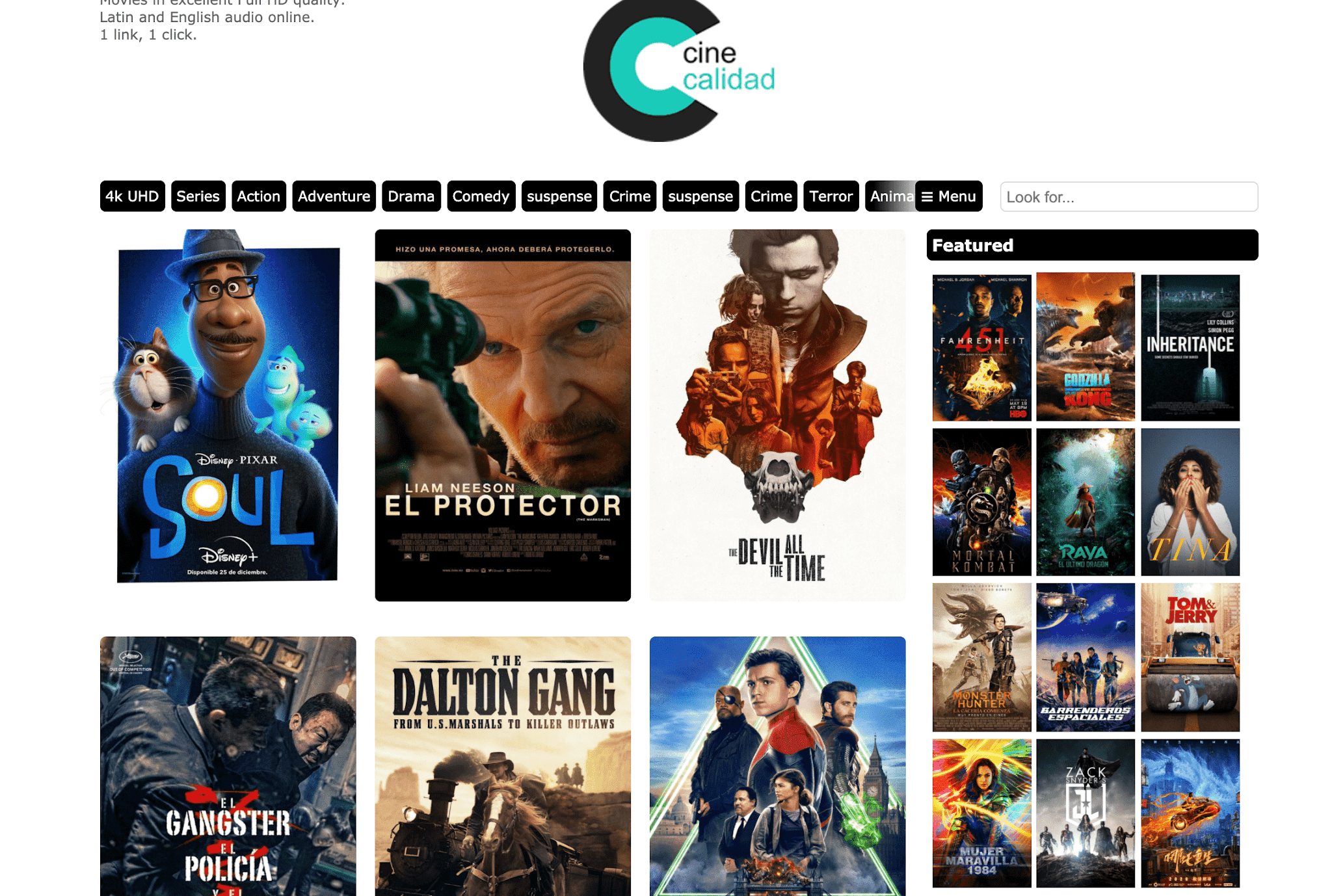 Cinecalidad website