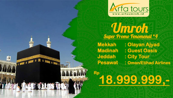 umroh fenomenal bintang 3 bulan september arfa tour
