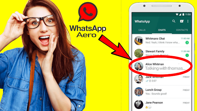 واتساب ايرو whatsapp Aero الاصدار 8 بمميزات رهيبة وخرافية