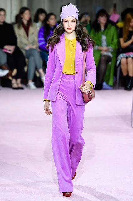 Lavender velvet suit