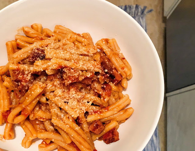 Pasta all' Amatriciana with Conflict Tomatoes from Where Cooking Begins by Carla Lalli Music | salt sugar and i | Dani Elis