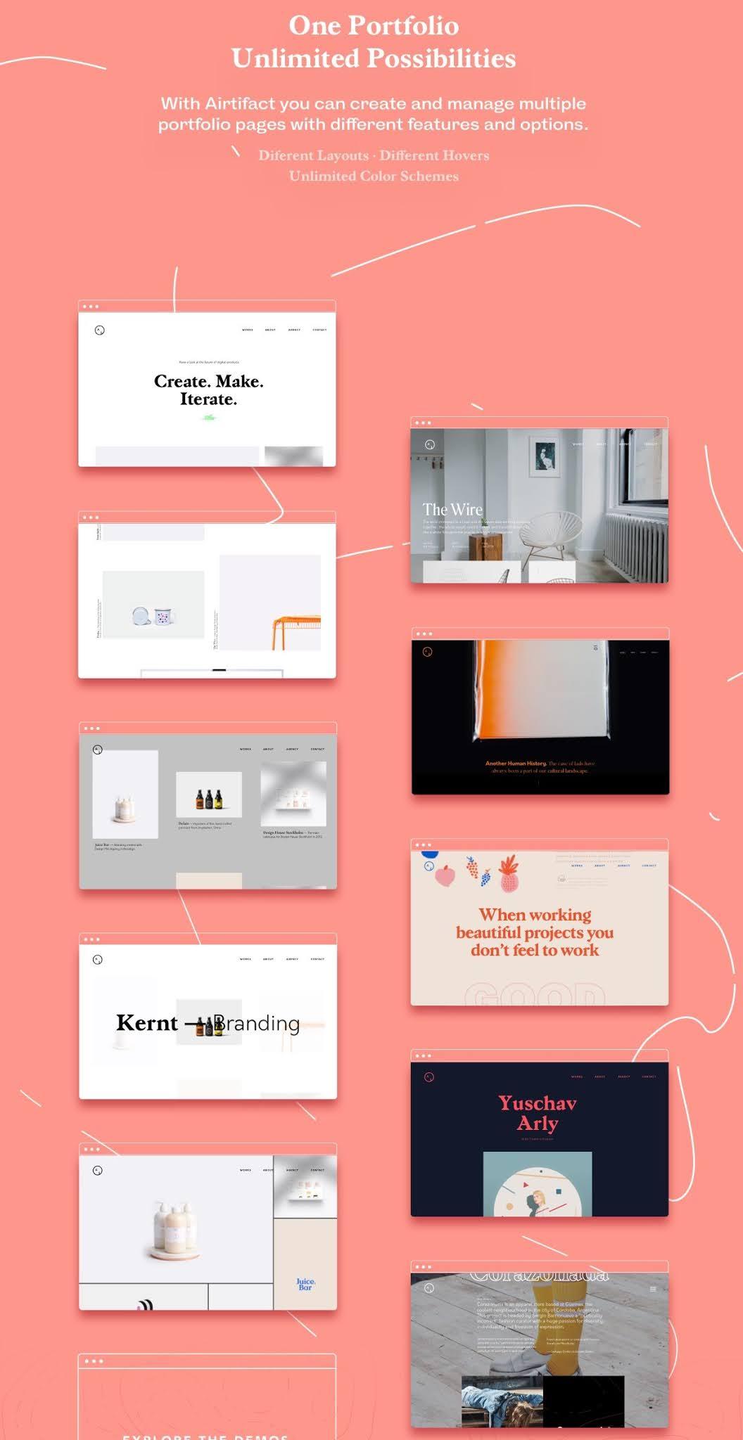 Airtifact  Portfolio Creative WordPress Theme