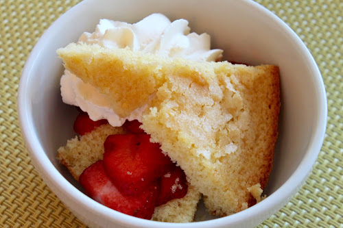Cornmeal Skillet Cake with Strawberries