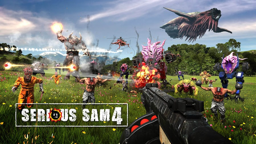 serious sam 4 gameplay overview trailer google stadia pc steam 2021 first-person shooter game croteam devolver digital