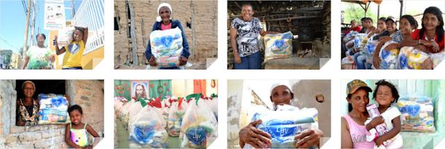 Famílias que vivem na capital e no sertão de Pernambuco recebem ajuda da LBV