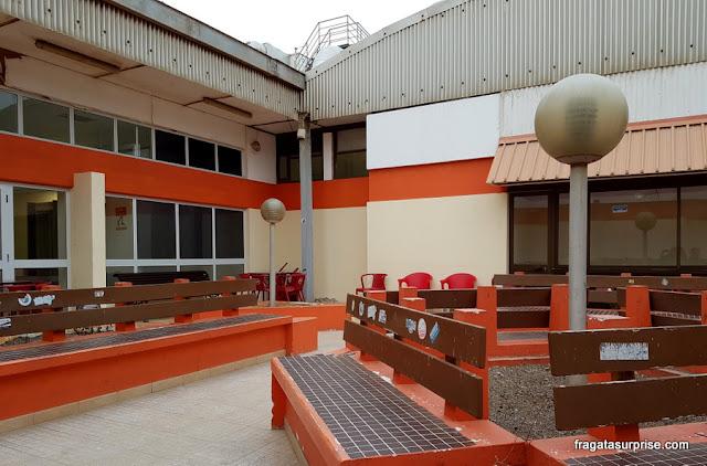 Área de espera do Aeroporto Amílcar Cabral, na Ilha do Sal, Cabo Verde