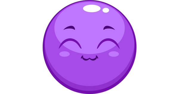 Purple I Love You Emoticon: Purple Smiley-Face Thumbs Up