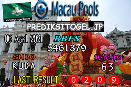 Prediksi Wangsit Togel Macau Selasa 06 April 2021