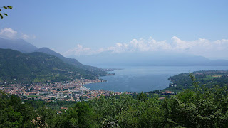 The resort town of Salò sits on the shore of Lake Garda