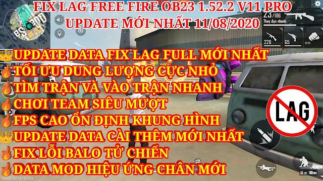 DOWNLOAD FIX LAG FREE FIRE OB23 1.52.2 V11 PRO MỚI NHẤT - TÌM TRẬN VÀ VÀO TRẬN NHANH, CHƠI TEAM MƯỢT, FPS CAO